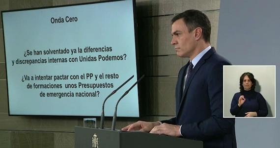 SÁNCHEZ GARANTIZA ESTABILIDAD DEL GOBIERNO Y PIDE UN NUEVO CLIMA POLÍTICO